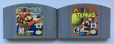 Nintendo 64 N64 Mario Golf + Mario Tennis Video Game Cartridges