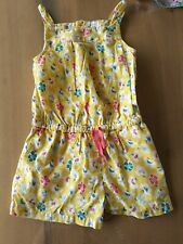 MINI BODEN Jumpsuit Summer Short Girl Yellow Flower 18-24 m 1.5-2 playsuit