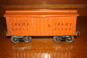 Antique Standard Gauge LIONEL #114 CM & STP BOX CAR