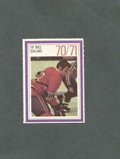 1970-71 Esso Hockey Stamp Bill Collins Montreal Canadiens