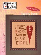 Happy Heart Cross Stitch Chart with Buttons by Heart in Hand Needleart