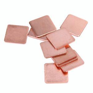 Thermal Pad Barrier 10 St.Reines Kupfer Kühler Shim für Laptop Video Card Chips