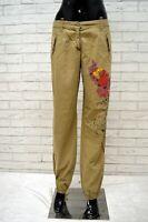 Pantalone ICEBERG Donna Taglia 42 Jeans Pants Woman Beige Cotone Pantalones Hose