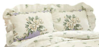 Magnolia Garden Floral Ruffle Pillow Sham, by Collections Etc