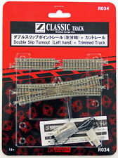 Rokuhan R034 Double Slip Turnout (Left Hand) & 53.6mm Track (1/220 Z Scale)
