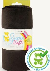 Fleece Super Soft Shorty 1,5 mm Schokolade 100 X 75 weich kullaloo