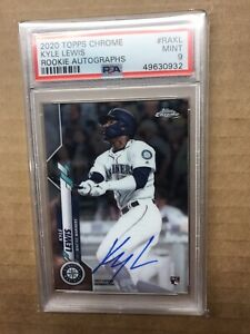 2020 Topps Chrome - Rookie Auto - Kyle Lewis #KAKL - RC - PSA 9 Seattle Mariners