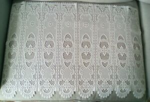 French Vintage White lace curtain
