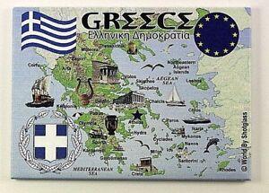 """GREECE EU SERIES FRIDGE COLLECTOR'S SOUVENIR MAGNET 2.5"""" X 3.5"""""""