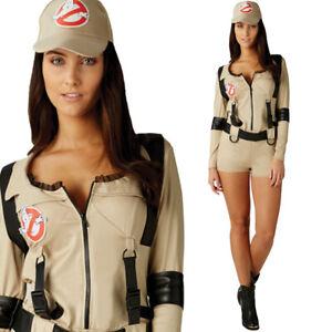 Ladies Ghostbusters Shorts Costume 80's Fancy Dress