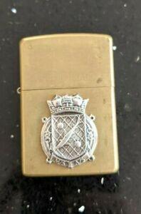 Original Zippo Brass Lighter - Customised for WW2 RNPS Harry Tate's Navy - used