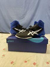 Asics Cael V8.0 Mens Wrestling Shoes 1081A002-002 Black Royal Blue Size 9