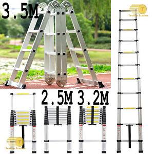 NEW Heavy Duty Multi-Purpose Aluminum Telescopic Ladder Extendable Foldable UK