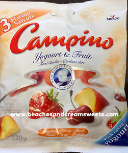 Campino Assorted Flavour Canadian Import 120g Sweets Peach, Strawberry PAST DATE