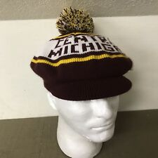 Vintage Central Michigan Chippewas CMU Chips Winter Pom Hat Rare