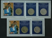 Great Britain 1981 Charles & Di Crowns in Card of Issue (5 Coins)