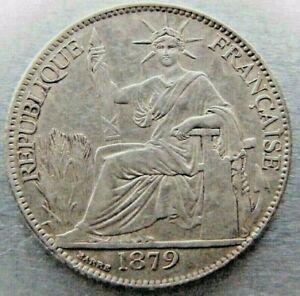 French Cochin China 20 Cents 1879-A nice AU