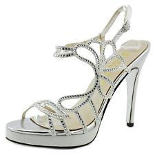 Satin Medium (B, M) Width Slim Heel Sandals for Women