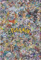 Pikachu Pokemon Puzzle Jigsaw 1000 piece Puzzles Anime Characters JP Kids Toys