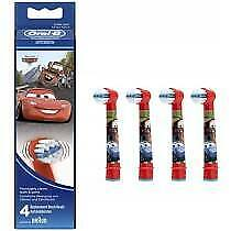4xOral-B Power Cars Replacement Electric Toothbrush Heads Stages Power Kids