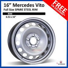 "16"" Mercedes vito  2003 - 2018 Full Size Steel Spare Wheel, Steel Rim 6.5J X 16"