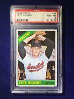 1966 Topps Pete Richert #95 PSA 8 Washington Senators