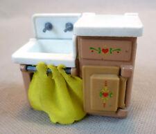 Vintage Maison De Poupées Small Scale Diecast Metal Mattel la Littles Kitchen Sink
