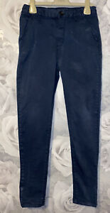 Boys Age 10 (9-10 Years) Navy Chino Trousers
