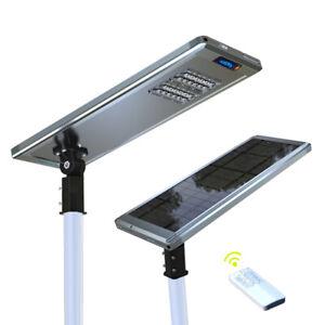 Solar Powered LED Path Street Parking Smart Motion Sensor Lights Lamp Remote