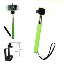 Green Selfie Stick Monopod & Phone Adapter for Samsung Galaxy S1, S2, S3, S4, S5