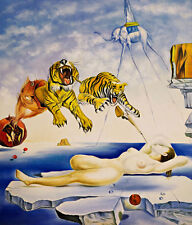 Dream Caused by a Bee by Salvador Dali A1+ Quality Canvas Print