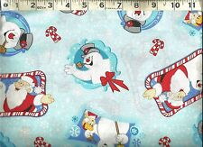Cranston VIP ~ Frosty the Snowman Santa Christmas ~ 100% Cotton Quilt Fabric BTY