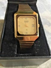 New Old Stock Authentic RADO Gold Dial Brown Gold Band Quartz Women's Watch