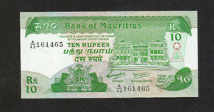 10 RUPEES AUNC BANKNOTE FROM MAURITIUS 1985 PICK-35