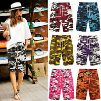 Women Casual Camo Loose Shorts Bermuda Capri Trousers Cropped Short Pants Summer