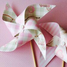 Paper Pinwheel Kit Baby Shower Girl DIY decorations First Birthday Christening