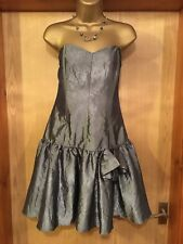 TopShop Stunning Silver Grey Wedding / Prom / Party dress (BNWT) - UK 12