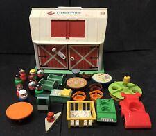 Vintage Fisher Price Family Play Farm Barn Set