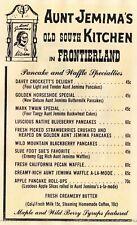 2 Vintage Disneyland Menus, Aunt Jemima Kitchen & The Gourmet Restaurant Digital
