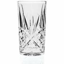 Vintage Clear Crystal Highball Glasses Drink Set 4 Glassware Kitchen Dining Bar