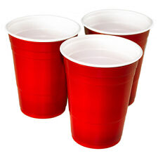500 Red American Party Cups 16oz 455ml Disposable Plastic Ruby Apple Beer Pong