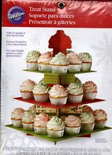 Wilton Christmas Holiday Treat Stand Cupcake Cake Candy 3 Tiers PartyTower NEW