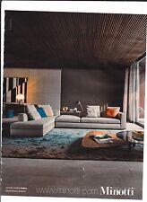 MINOTTI   Pub de Magazine .Magazine advertisement. 2012
