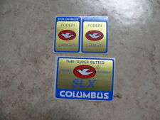 stickers adesivi per bici da corsa vintage columbus SLX - 3 pezzi blu