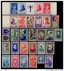 ANNÉE 1943 Complète avec les 2 Bandes, Neufs ** = Cote 212€ / Lot Timbres France