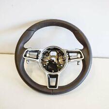 PORSCHE MACAN 95B Multifunction Steering Wheel W/ Gear Pads 308140320R64-AD 2017