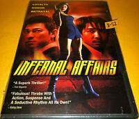 INFERNAL AFFAIRS (original THE DEPARTED) dvd TONY LEUNG andy LAU eric TSANG new