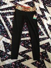 Victoria's Secret PINK Ultimate Leggings Tiger Print Reversible Small NEW