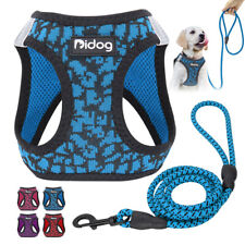Reflective Step In Dog Harness and Leash Set Walking Harness Vest Padded Yorkie