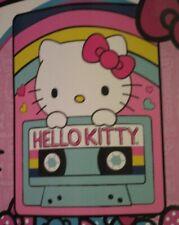 New Hello Kitty Throwback Cassette Tape Soft Plush Throw Gift Blanket Girls Room